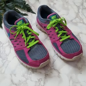 Nike Flex 2013 Running Shoes Purple Gray Lime
